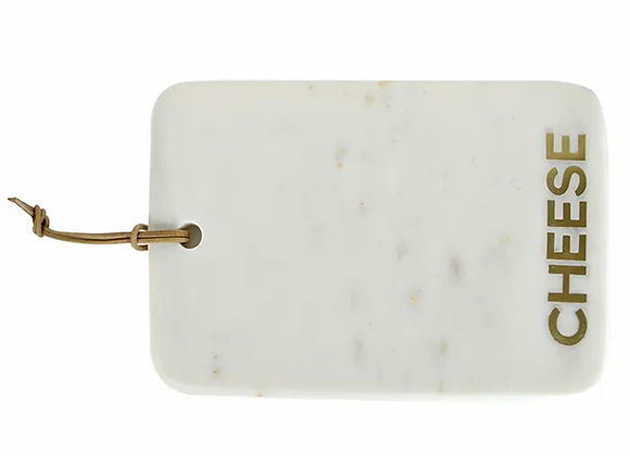 Marble Inlay Cheese Board - White