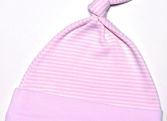 Emotion & Kids - Pink Fine Stripe Knot Hat