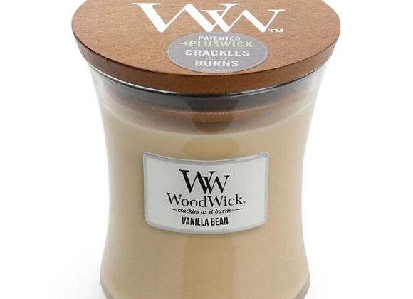 Woodwick Candle Vanilla Bean -Medium