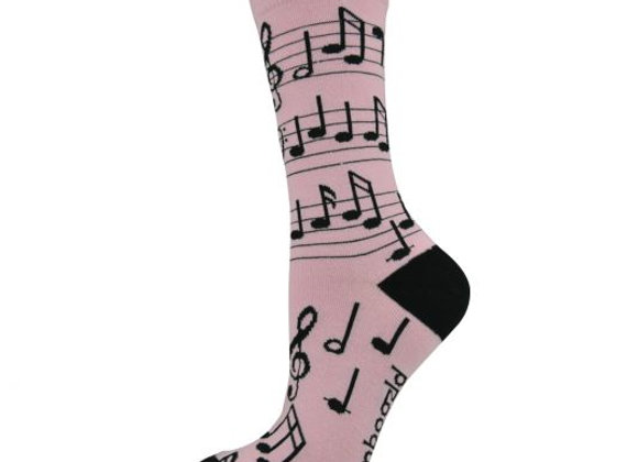 Bamboozld Ladies Sock -Musical notes