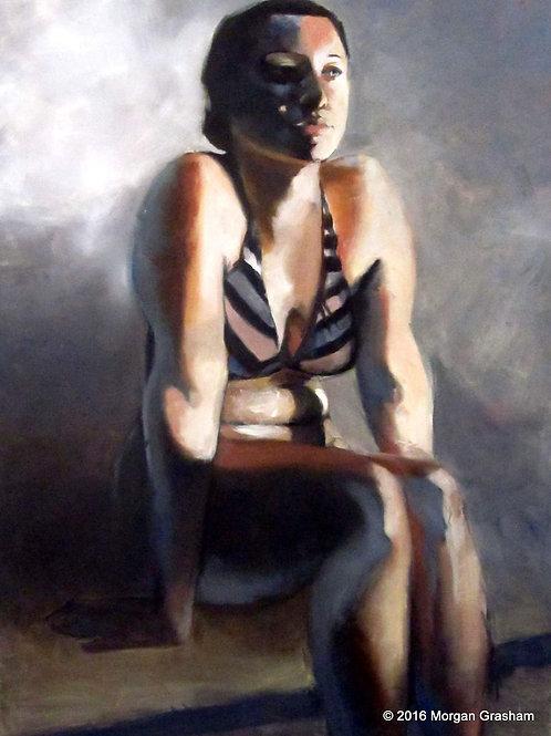 "Figure Study III - Original 24x36"" Painting"