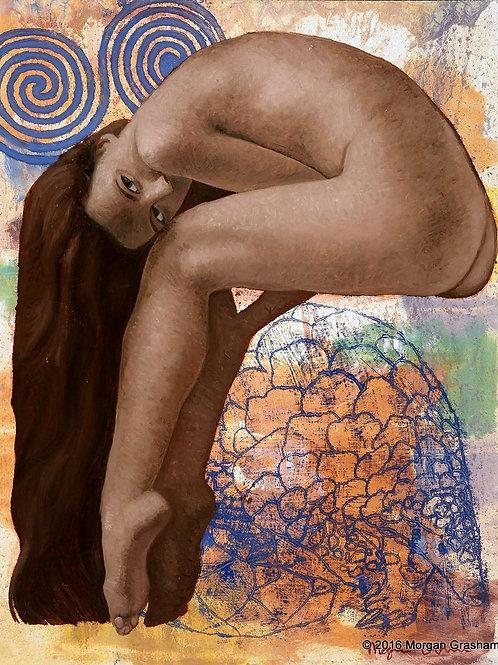 "Balanced Pangolin - Framed 16x20"" Painting"
