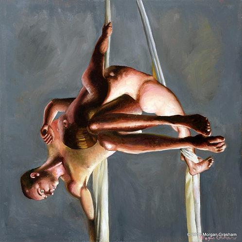 """Aerial Silks - Original 24x24"""" Painting"""