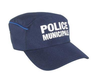 CASQUETTE POLICE MUNICIPALE FORME DROITE LISERE GITANE- DMB