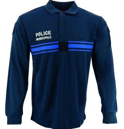 POLO RESPIRANT MANCHES LONGUES POLICE MUNICIPALE - DMB