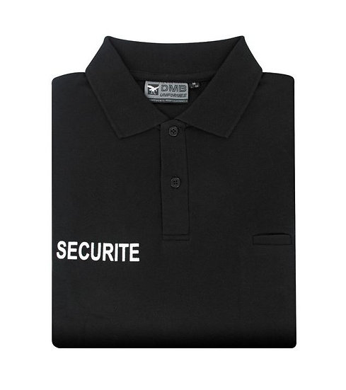 POLO NOIR SECURITE - DMB
