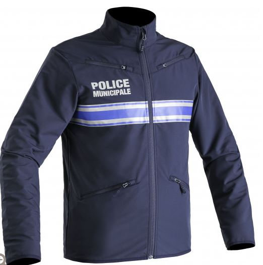 BLOUSON CYCLISTE STRETCH POLICE MUNICIPALE PM ONE - TOE