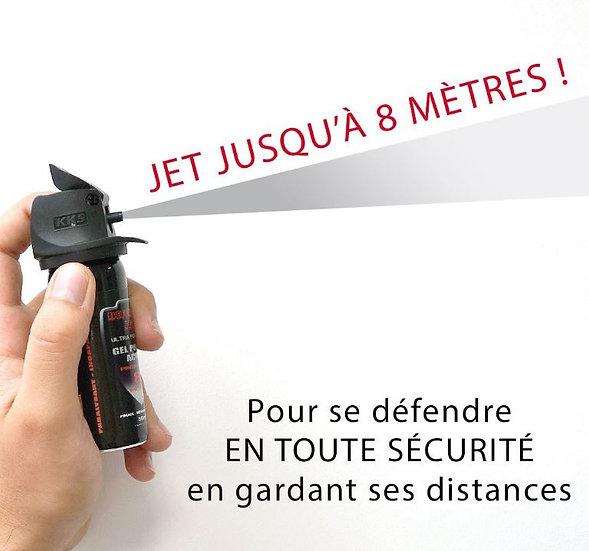 AEROSOL DE DEFENSE GEL POIVRE A JET - 100 ML