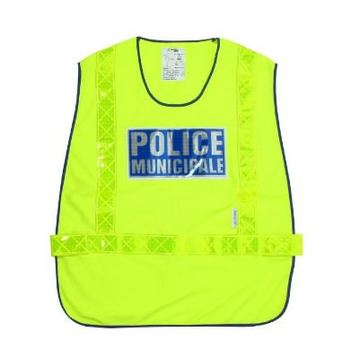 CHASUBLE POLICE MUNICIPALE HAUTE VISIBILITE