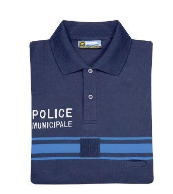 POLO POLY COTON MANCHES COURTES POLICE MUNICIPALE - DMB
