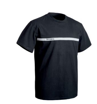 TEE SHIRT SECU ONE SECURITE BANDE GRISE - TOE