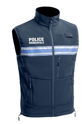 GILET SOFTSHELL SANS MANCHES POLICE MUNICIPALE PM ONE - TOE