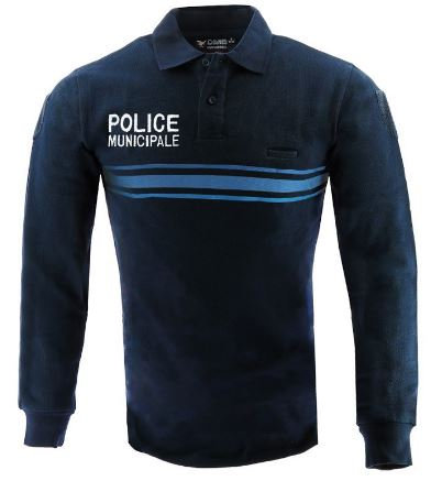 POLO POLY COTON MANCHES LONGUES POLICE MUNICIPALE - DMB