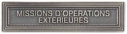 AGRAFE ORDONNANCE MISSIONS D'OPÉRATIONS EXTÉRIEURES