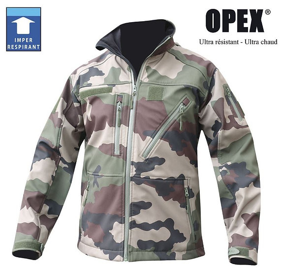 BLOUSON SOFTSHELL CAM CE 3 COUCHES - DCA