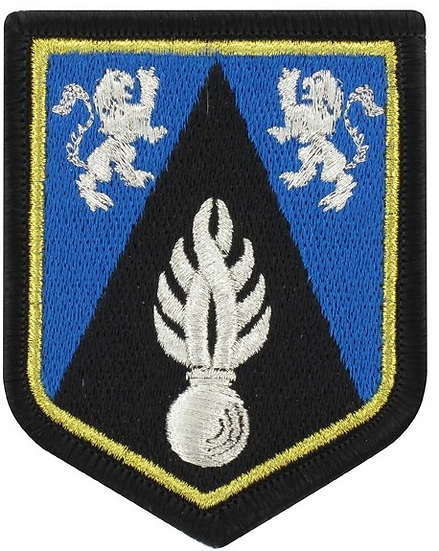 ÉCUSSON BRODÉ ECOLE FORMATION GENDARMES ADJOINTS