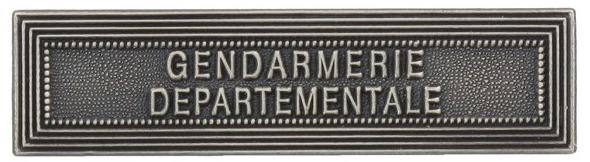 AGRAFE ORDONNANCE GENDARMERIE DEPARTEMENTALE