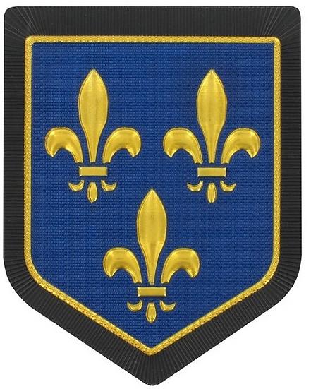 ÉCUSSON PLASTIFIÉ ÎLE DE FRANCE