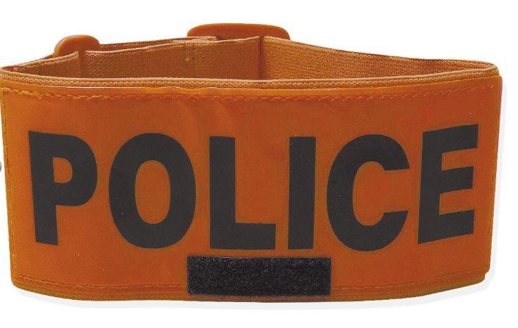 BRASSARD ORANGE POLICE