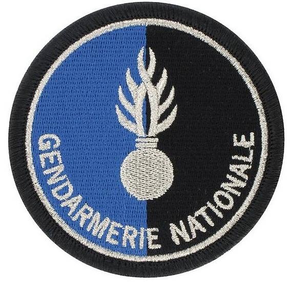 ÉCUSSON BRODÉ GENDARMERIE NATIONALE