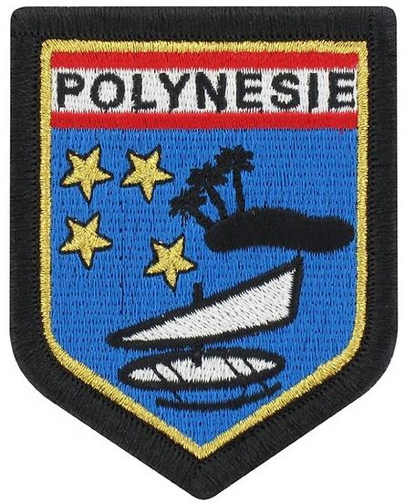 ÉCUSSON BRODÉ POLYNÉSIE FRANÇAISE