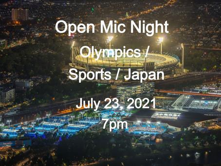 Open Mic Night July 23 at 7pm