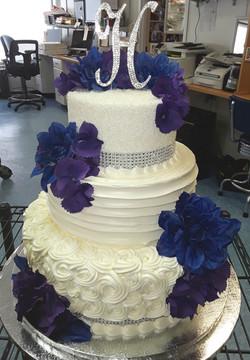 Folded sides, wedding, rosettes, sugar,