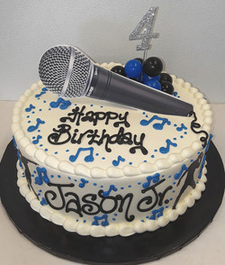 Music, fondant plaque, microphone