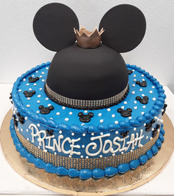 Fondant, prince, mickey, crown, blue, ba