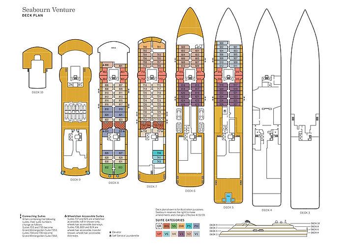 SEABOURN VENTURE Deckplan