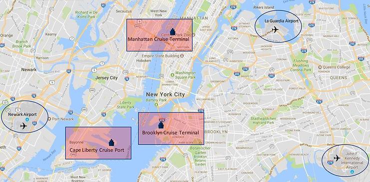 kleine Schiffe New York Cruise Terminals