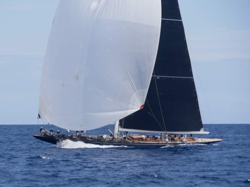 "J-Class Yacht ""Topaz"" bei der Voiles de Saint-Tropez"