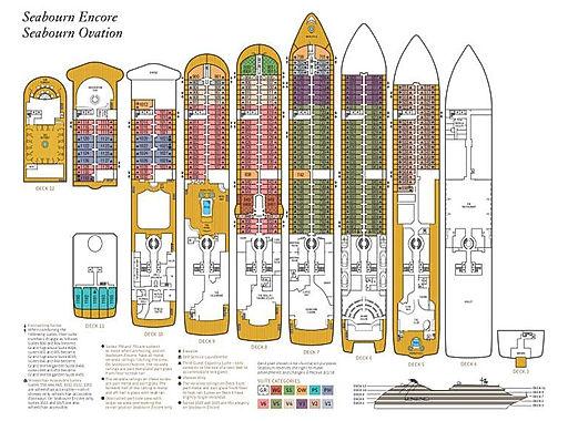 SEABOURN OVATION Deckplan
