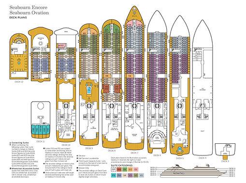 SEABOURN ENCORE + OVATION Deckplan