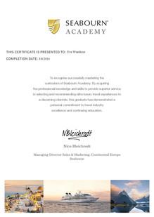 Seabourn Zertifikat