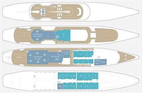 LE PONANT Deckplan
