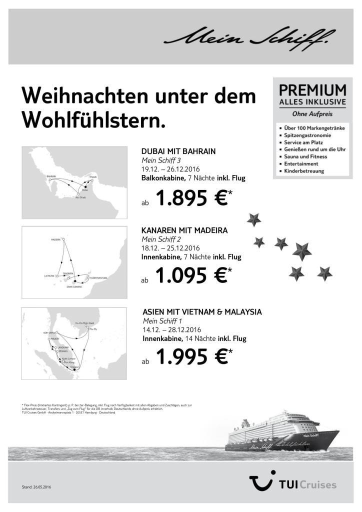 TUI Cruises deutsche Kreuzfahrtschiffe