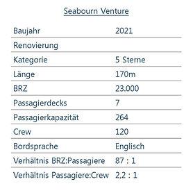 SEABOURN VENTURE Schiffsdaten