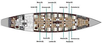 Sailing-Classics Chronos Deckplan Segelkreuzfahrten