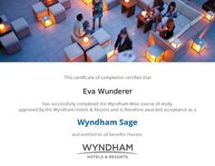 Wyndham Zertifikat