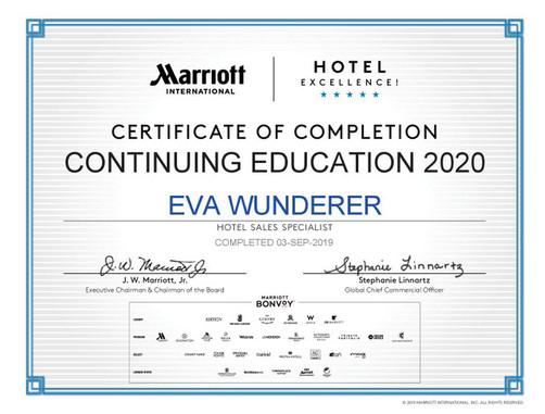 Marriott Hotels Zertifikat