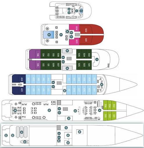 EMERALD AZZURRA Deckplan