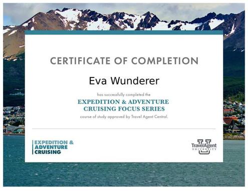 Expedition & Adventure Cruising Zertifikat