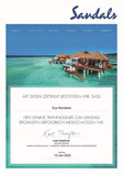 Sandals Zertifikat