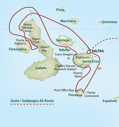 UnCruise Expeditionskreuzfahrten Galapagos