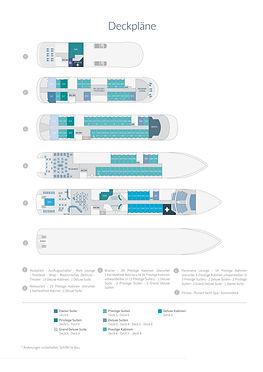 Ponant Expeditionskreuzfahrten Deckplan