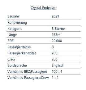 CRYSTAL ENDEAVOR Schiffsdaten