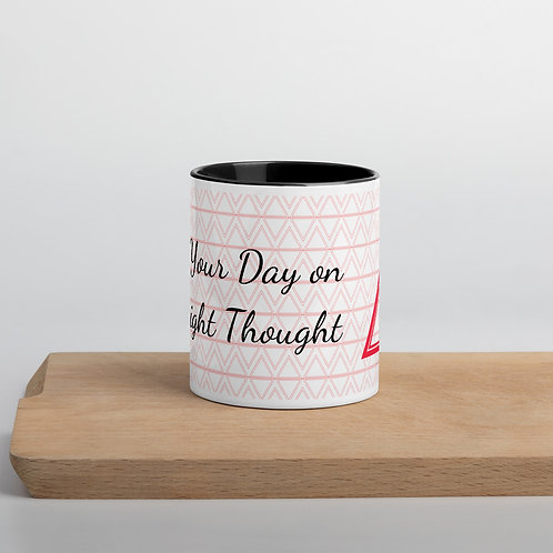 Start Your Day on the Right Thought Black Mug