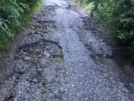 кв. Горна баня - дупки, лоши пътища, ремонти... Докога?