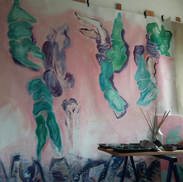 Falling Angels II in Arbeit
